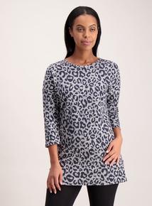 Grey Leopard Print Tunic
