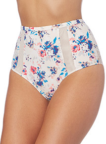 Gok Floral High Waist Brazilian Briefs