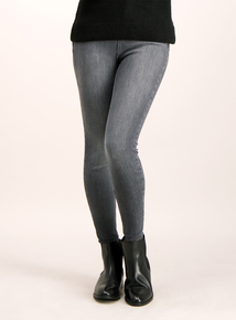 Grey 4-Way Stretch Skinny Jeans