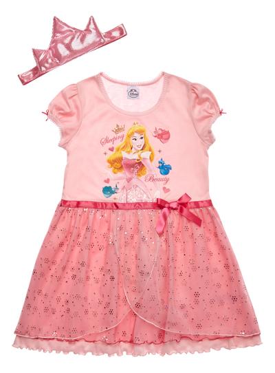 72d013333 Kids Girls Pink Princess Dress Up Nightie (2-8 years)