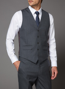 Online Exclusive Grey Texture Slim Fit 100% British Wool Jacket