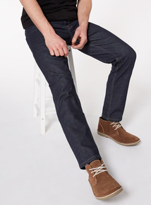 Denim Rinse Wash Straight Jeans