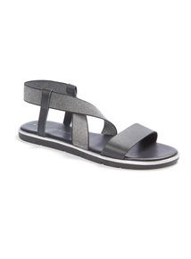 'Made In Italy' Glitter Strap Sandals