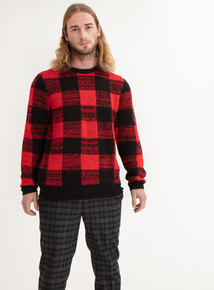 GFW Red Check Jumper