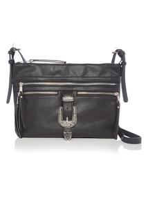 Black Western Buckle Cross Body Bag