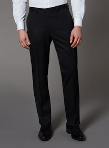 Black Tailored Fit Trousers With Stretch