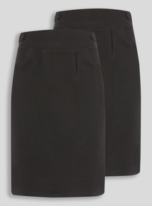 Black 2 Pack Jersey Tulip Skirt (10-16 years)