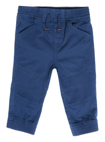 Boys Navy Woven Joggers (0-24 months)