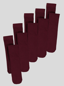 Burgundy Supersoft Tights 5 pack (2 years-12 years)