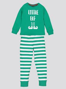Green Christmas Elf Pyjamas (1.5-10 years)