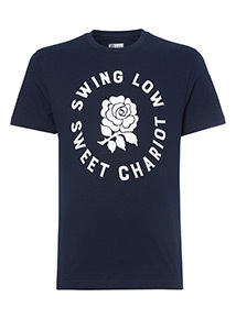 Official Licensed England Rugby Slogan Tee