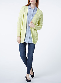 Yellow Cable Cardigan