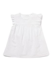 White Woven T-Shirt (0-24 months)