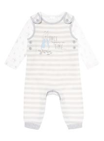 Grey Peter Rabbit Dungaree Set (0-12 months)