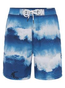 Blue Wave Swim Shorts