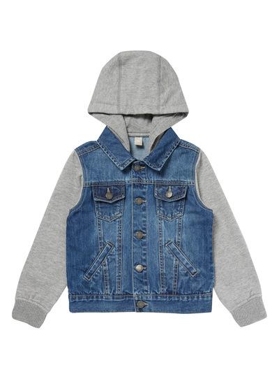 Blue Hooded Denim Jacket (3-14 years)