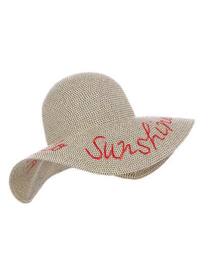 Multicoloured Floppy Hat With Text