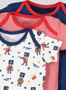 Multicoloured Short Sleeve Bodysuits 5 Pack (0-36 Months)