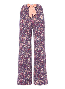 Feather Print Full Leg Pyjama Bottoms