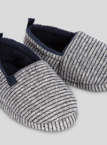 Navy Stripe Full Slippers (6 infant - 4 child)