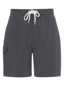Grey Quick Dry Cargo Swim Shorts