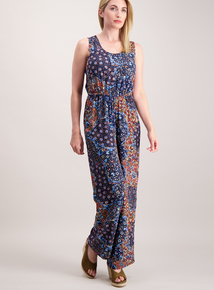 Patchwork Print Jumpsuit