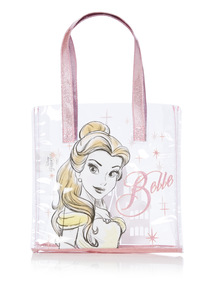 Pink Glitter Disney Beauty and The Beast Belle Tote Bag