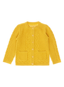 Yellow Multi-Knit Cardigan (9 months-6 years)