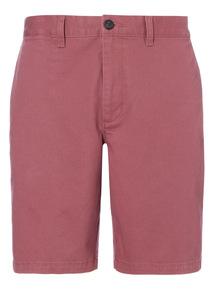 Red Basic Chino Shorts
