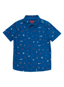 Blue Cars Woven Shirt (9 months - 6 years)