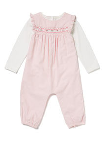 Pink Cord Dungarees and Bodysuit Set (0-12 months)