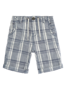 Boys Blue Checked Shorts (9 months-5 years)