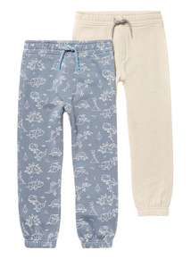 Multicoloured Joggers 2 Pack (3 -14 years)