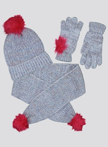 Multicoloured Hat, Scarf & Gloves 3 Piece Set (3-13 Years)