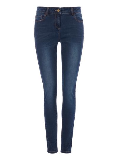 Tobacco Stitch Skinny Jeans