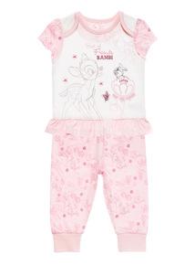 Pink Disney Bambi PJ Set (0 - 12 months)