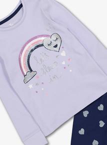 Purple & Blue Long-Sleeved Pyjamas 2 Pack (18 Months - 12 Years)
