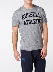 Online Exclusive Russell Athletic Blue Space Dye Tee