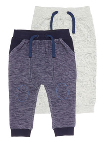 Boys Space Dye Joggers 2 Pack (0 - 24 months)