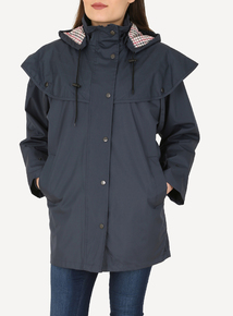 DAVID BARRY Navy Waterproof Storm Jacket