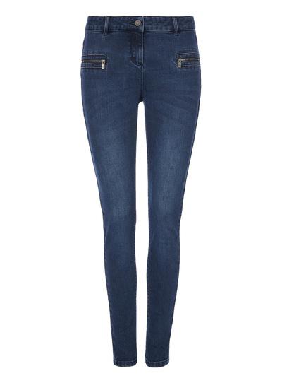 Zip Detail Skinny Jeans