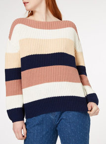 Multicoloured Block Stripe Jumper