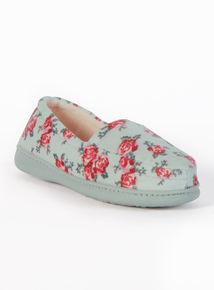 Multicoloured Floral Slippers