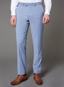 Pastel Blue Slim Fit Trousers