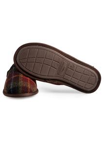 Harris Tweed By Totes Brown Mule Slippers