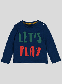 Multicoloured 'Let's Play' Slogan T-Shirt (0-24 Months)