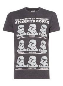 Charcoal Star Wars Trooper Emotions Tee