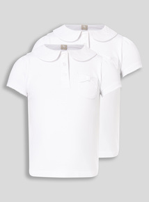White 2 Pack Fashion Jersey Polo (3-12 years)