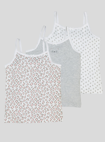 Multicoloured Cami Vests 3 Pack (18 Months - 10 years)