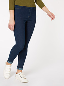 Dark Blue Denim Jeggings